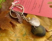 Sea Glass Keychain with Charm