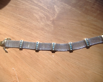 Sterling Silver Mesh Woven Bracelet