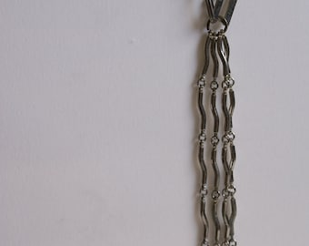 Long Link 1960's Silver Plated Squiggly Necklace