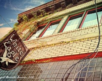 Fine Art Photo Print--Portland Oregon McMenamins White Eagle Saloon Sign--Fine Art Lomography 8x12