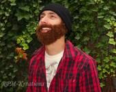 The Original FUZZY Hand-Crocheted Hobo Beard Beanie- best beard beanie around!