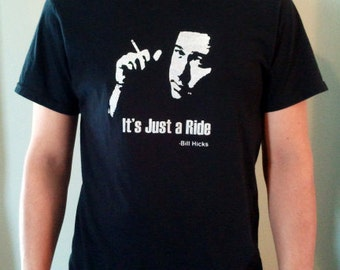 Bill Hicks It's Just A Ride T-Shirt by Jim Wallace