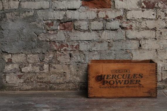 Vintage Hercules Powder Wooden Crate