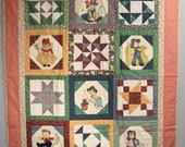 Nursery Rhyme Quilt, Wall Hanging, Lap Quilt, Throw Blanket