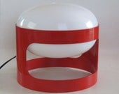 Joe Colombo for Kartell Red KD27 table or desk lamp, Design lighting an Icon from the late 1960s and early 1970s.