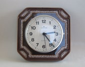 "Vintage ceramic wall clock made in Germany by ""Junghans"""