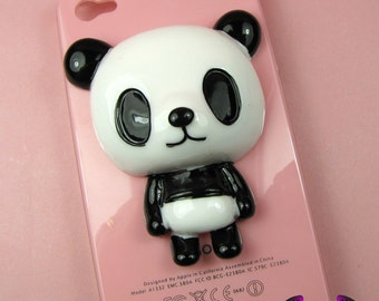 XL PANDA BEAR Full Body Decoden Flatback Resin Cabochon Cell Phone Deco