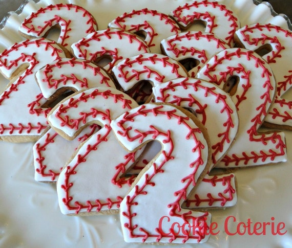 Items Similar To Baseball Cookies Number Cookies Birthday