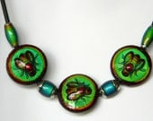 Bee Color Changing Mood Bead Necklace - Ready to Ship