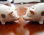 Japan Pig Salt and Pepper Shakers/Collectible/ Pig Lovers.