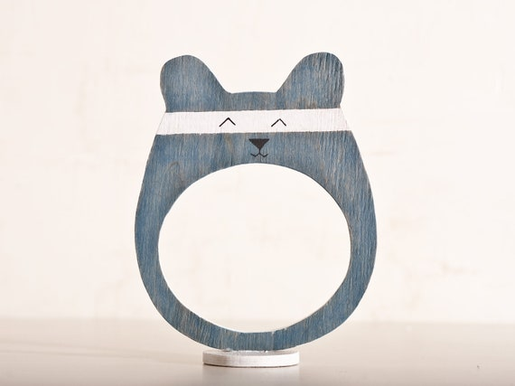 Wooden photo frame in a gift box, Bear, Home Decor. Art. Decorative Toys For Room, Child's Room Decoration