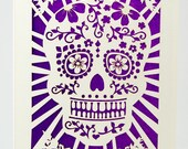 Day of the Dead Sugar Skull Card with out the Sugar, laser cut greeting card, Dia De Los Muertos, Halloween