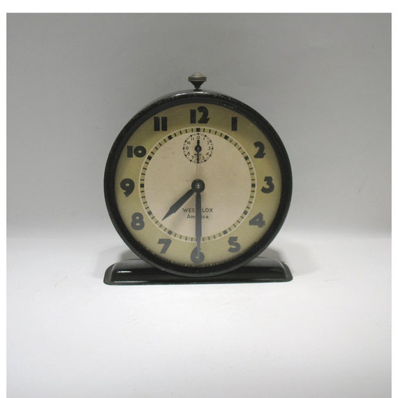Vintage Alarm Clock - Westclox  America  Model - Made in Canada