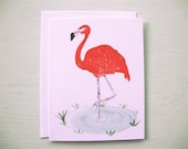 SALE - Flamingo Cards (set of 6) Hand Painted