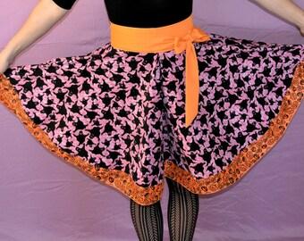 Halloween Skirt, Ghost and Pumpkin Print