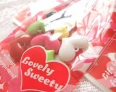 Japanese Gift Bag Set - Sweety - White and Red Heart x 10 Bags