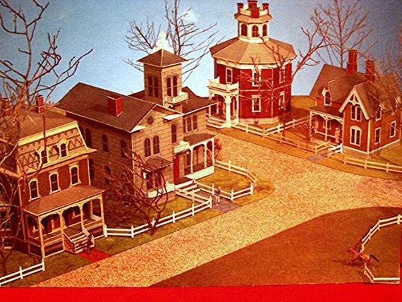 Vintage Victorian Cut Outs 3d Houses 1979 Cut And Assemble