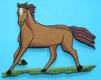 ID 0725 Horse Farm Animal Iron On Applique Patch