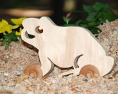 Waldorf Inspired Wooden Rolling Frog