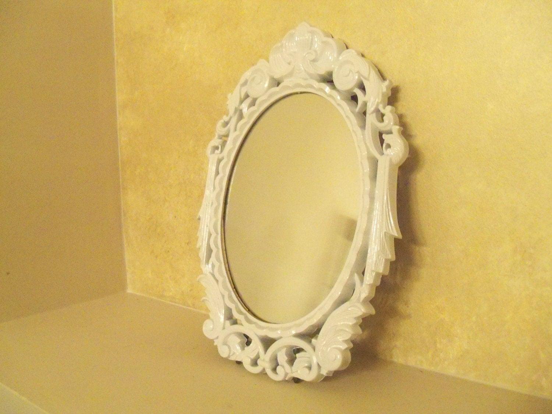 vintage shabby chic dresser mirror white vanity by