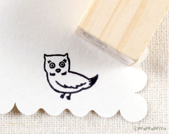 Owl Small Rubber Stamp