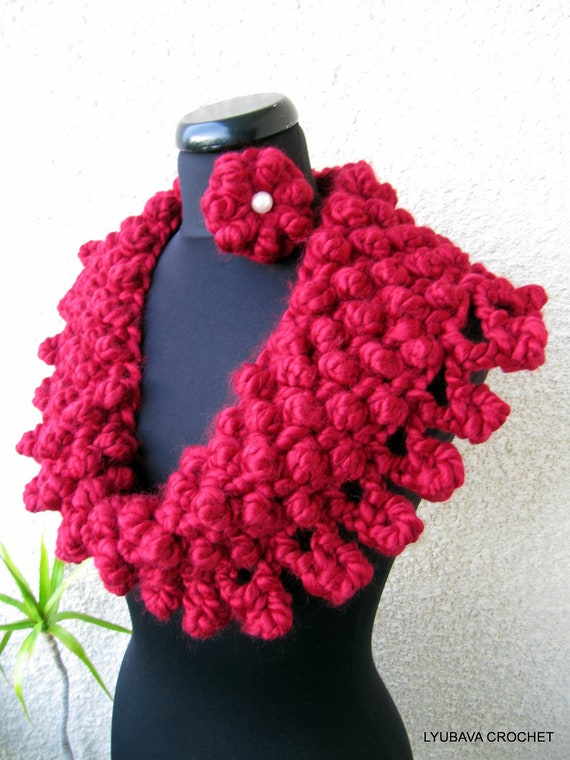 CROCHET COWL PATTERN, Chunky Scarf Pattern, Circle Scarf, Christmas Scarf Crochet Pattern, Instant Digital Download Pdf Pattern No.72