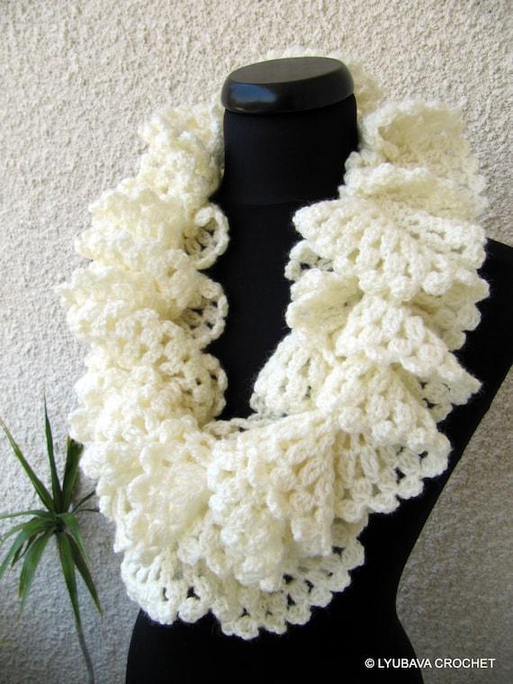 Crochet Ruffle Scarf : CROCHET PATTERN Ruffle Scarf, Marvellous Ruffle Lace Scarf, Christmas ...