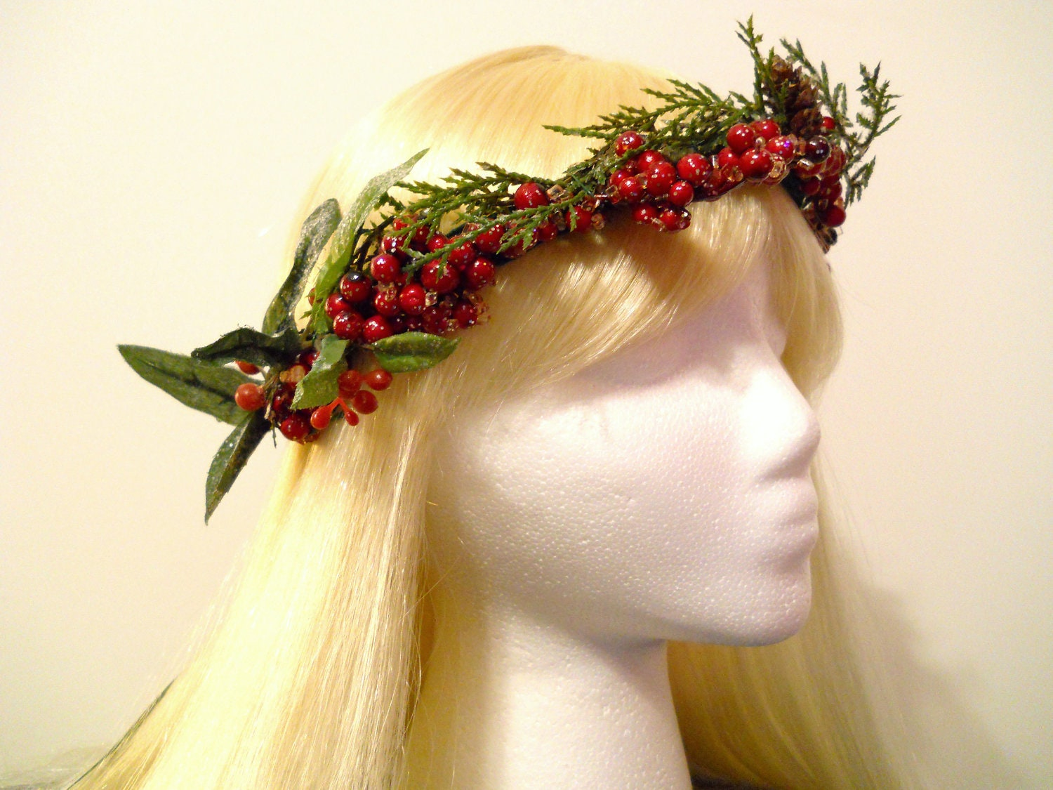 Flower Crown Head Wreath Christmas Holiday By Myfairyjewelry