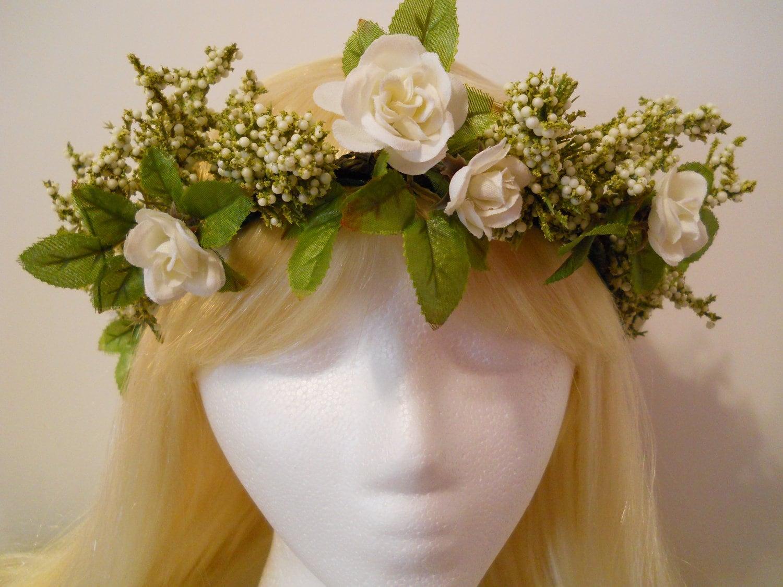 CUSTOM For Juliet Flower Crown Winter White Weddings White