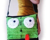 Invader Zim Gir Messenger Bag, Crochet Front FREE SHIPPING IN U.S.