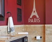 Eiffel Tower - Paris - Vinyl Wall Decal Sticker