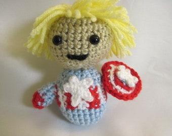 Captain America Amigurumi, Stuffed First Avenger, Captain America Toy, Avenger Toy, Gift Idea, Marvel Toy