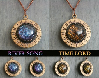 River Song - The Doctor - Spinning Through Time Necklace