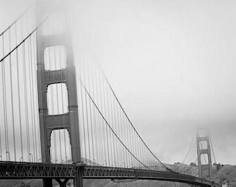 "Golden Gate Bridge - 8x10 photograph - ""Iconic"" - fine art print - vintage photography - Black and White photograph - San Francisco"