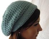 Crochet Slouchy Hat, Crochet Hat, Crochet Beanie, Beret, Womens Hat, Winter Accessories, Pick Your Color