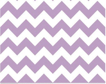 Medium Chevron Lavender  by Riley Blake Designs 1 yard cut