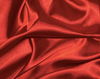 "Red Satin Fabric - Satin - 1 yard - 60"" wide satin fabric"