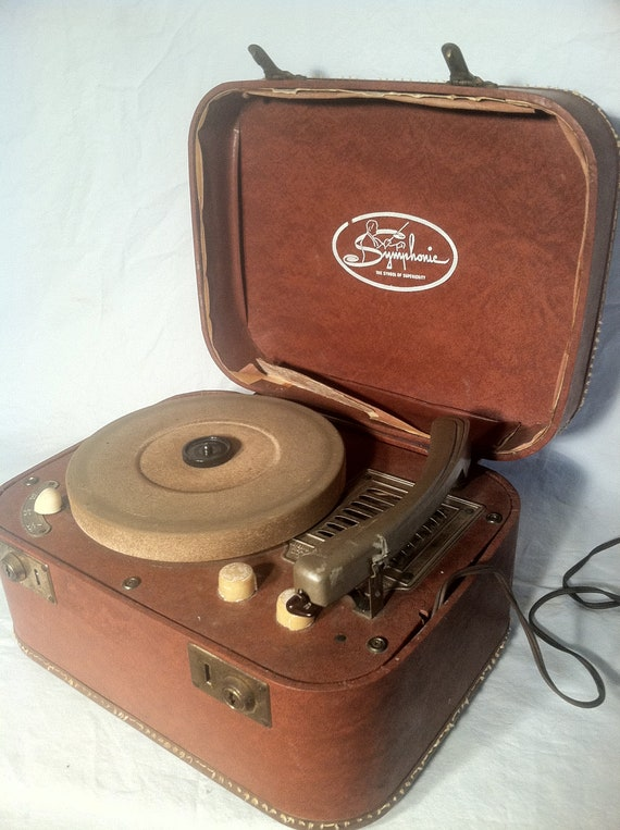 Synphonic Portable Electric Record Player