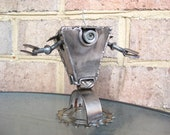 Gear Trap The Robot, Recycled Metal Sculpture