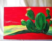 Cactus - Contemporary Landscape - Acrylic Painting on Canvas - Fine Art  - TAGT