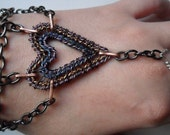 4-Tier Dark Heart Slave Bracelet