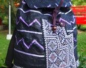 Unique Blue Tribal Vintage Hmong Backpack