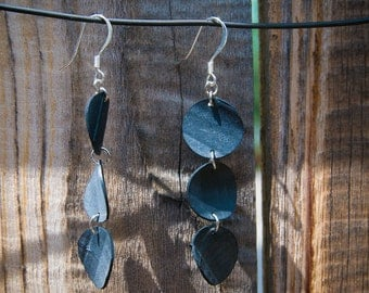 Recycled BIke Tube Earrings