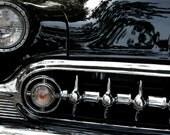 Fine Art Automotive Photography Black Car Vintage Still Life, Orange Dot 8x12