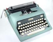Vintage Aqua Typewriter Royal Heritage Deluxe Works - ChromaticWit