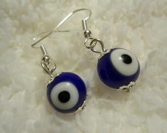 Nazar / Evil Eye Earrings -- Unique Christmas Gift