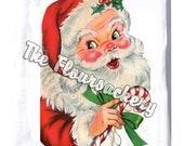 Flour sack towel/Tea Towel...Santa