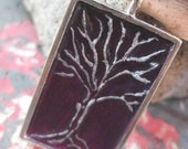 3D Silver Tree Pendant - One of a Kind