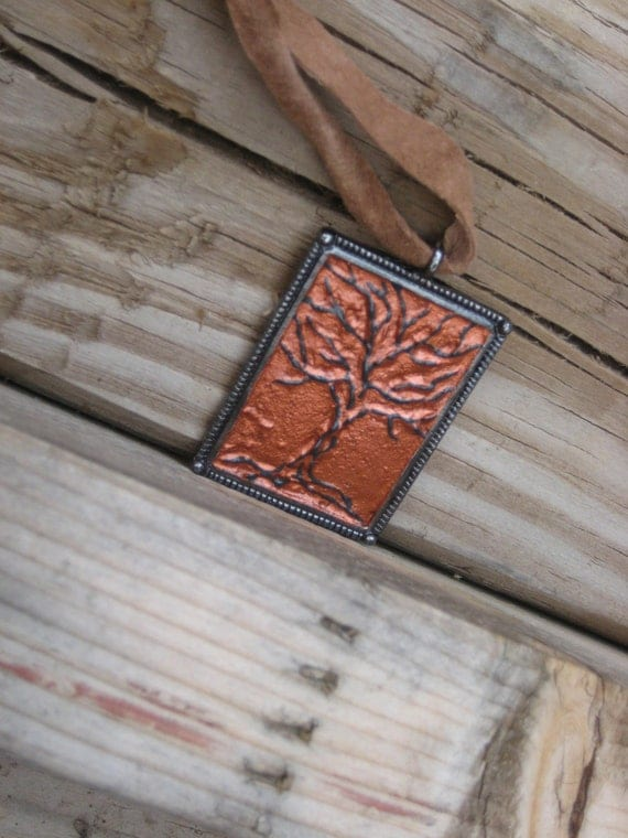 3D Black Tree Pendant - One of a Kind