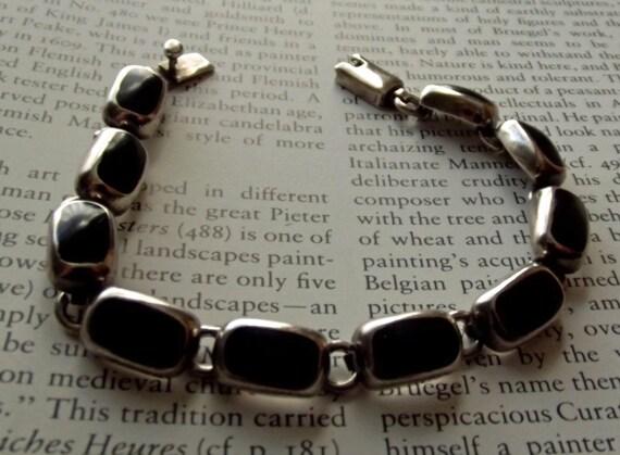 Over 50% Off Taxco Bracelet Vintage Onyx  Signed
